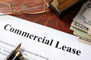 closeup of commercial lease agreement