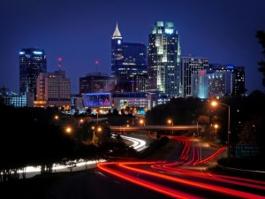 Downtown Raleigh NC at night