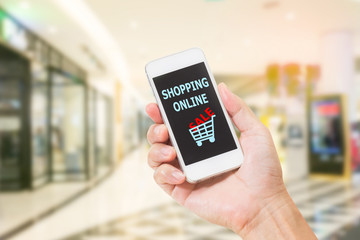 mobile phone with online shopping cart